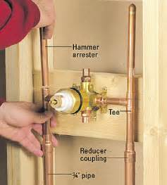 kitchen faucet diverter valve hooking up a shower or tub faucet how to install a new bathroom diy plumbing diy advice