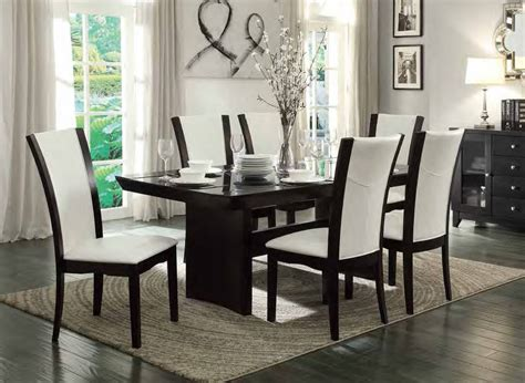 Home Elegance Daisy White 7pc Dining Room Set The Classy