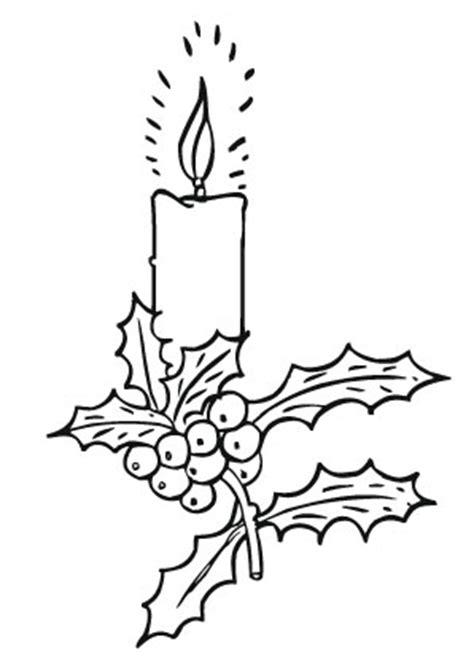 ausmalbilder adventskerze mit stechpalmenzweig