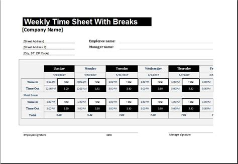 timesheet templates  ms excel microsoft word excel