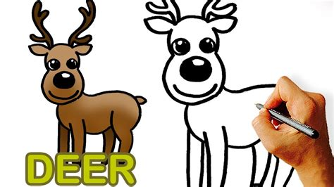 easy   draw cute cartoon deer art  kids