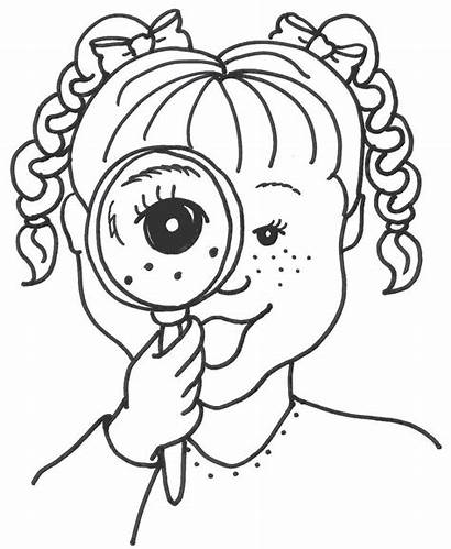 Senses Coloring Pages Clipart Five Drawing Finder