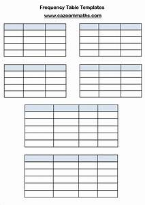 Gcse statistics worksheets ks3 and ks4 statistics worksheets for Frequency table template