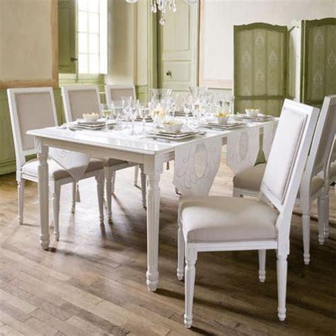 table de salle 224 manger 224 rallonges en bois blanche l 100 cm louis maisons du monde