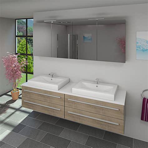 Waschtisch Zwei Waschbecken by Waschtisch Mit Waschbecken Unterschrank City 201 200cm