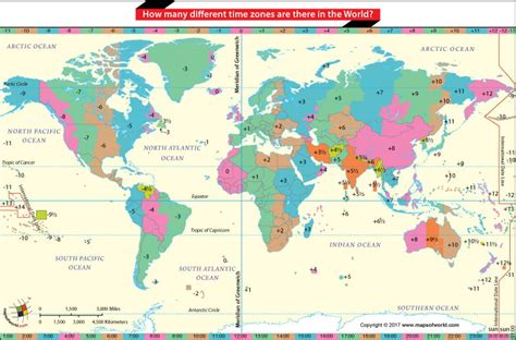 How Many Are In The World by How Many Different Time Zones Are There In The World