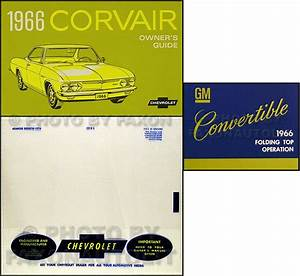 1966 Chevy Corvair Convertible Owners Manual Set Car Guide