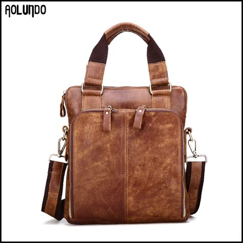 wholesale genuine leather men handbag manufacturers china