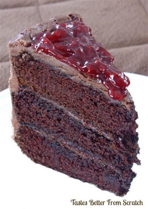 chocolate cake  raspberry filling