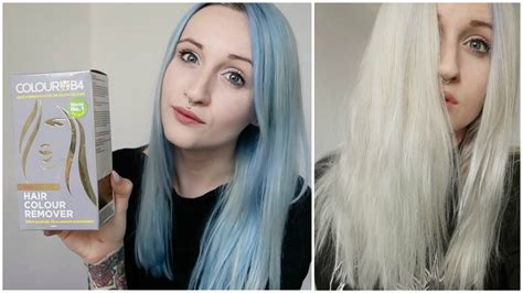 hair color remover hair color remover on blue hair
