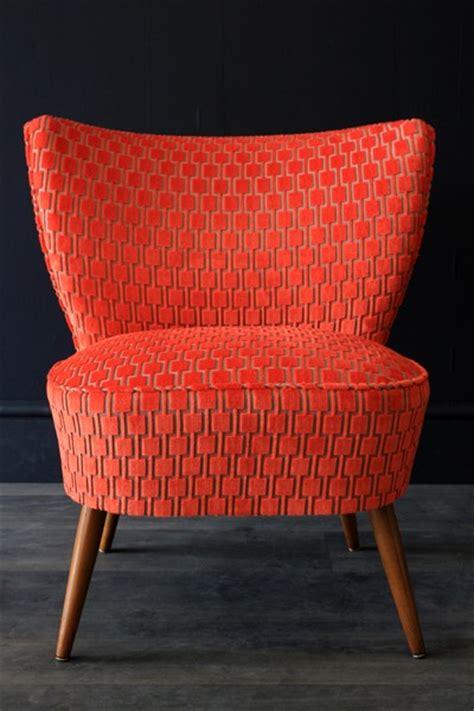 upcycled 1950s bartholomew cocktail chair citrus orange