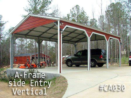 coast to coast carports a frame carports for custom vertical