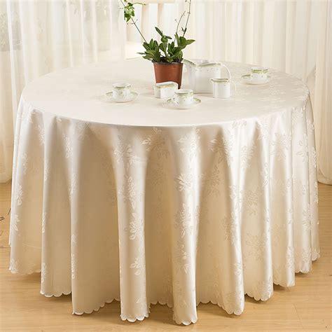 jacquard nappe ronde nappes polyester tissu couverture de table nappes pour banquet de mariage