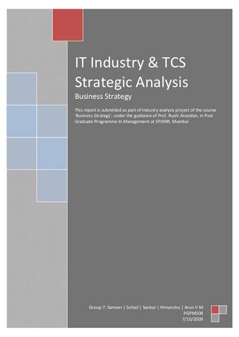 tcsiit industry analysis