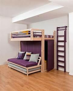 Lit Mezzanine Double : lits escamotables lit gigogne ~ Premium-room.com Idées de Décoration