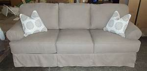 Gray Tufted Cotton Slip Covers For Three Seater Sofas