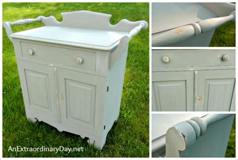 Home Decor Chalk Paint : Antique Washstand With A Folkart Home Decor Chalk Paint