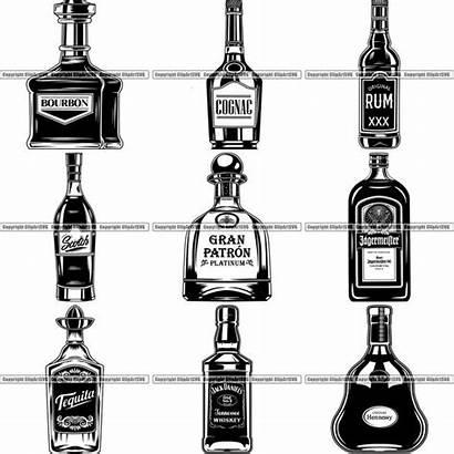 Bottle Clipart Whiskey Svg Liquor Tequila Designs
