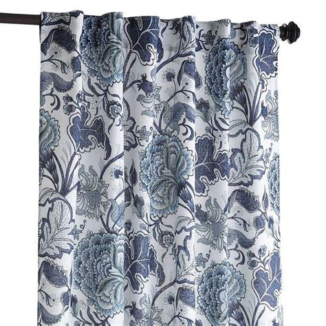 meadow floral curtains indigo