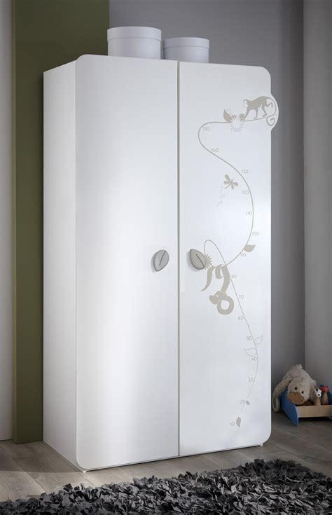armoire b 233 b 233 contemporaine 2 portes blanche woody armoire chambre bebe chambre