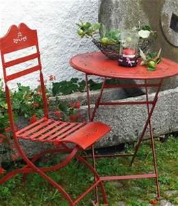 Gartentisch Mit Stühle : sitzgruppe passion tisch mit 2 st hle set a metall rot gartenstuhl gartentisch kaufen bei ~ Frokenaadalensverden.com Haus und Dekorationen