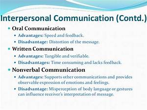 interpersonal communication advantages