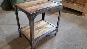 Metal And Woods : making a wood and metal side table end tables youtube ~ Melissatoandfro.com Idées de Décoration