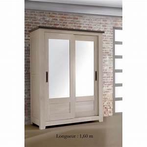 Armoire Bois Massif Porte Coulissante : armoire a dress meubles de normandie ~ Teatrodelosmanantiales.com Idées de Décoration
