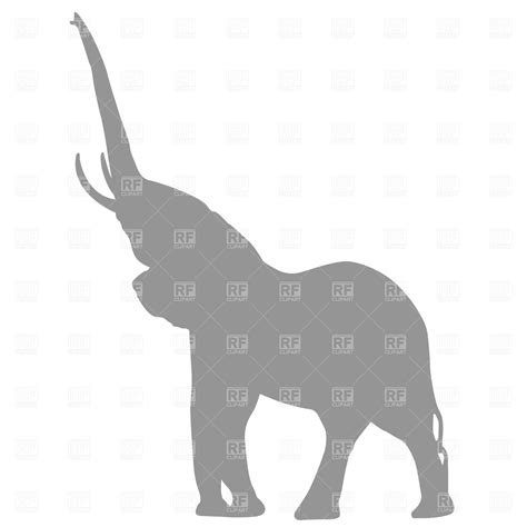 elephant clipart outline trunk up elephant silhouette 638 silhouettes outlines