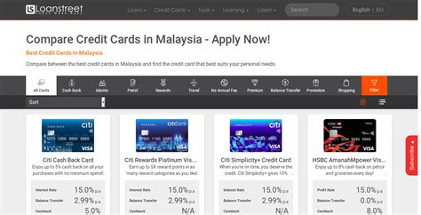 credit cards  malaysia compare apply
