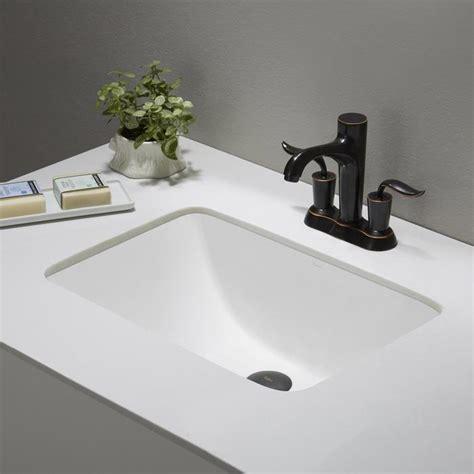 kraus elavo large rectangular ceramic undermount bathroom
