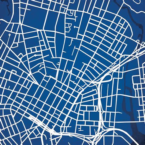 yale university campus map art city prints