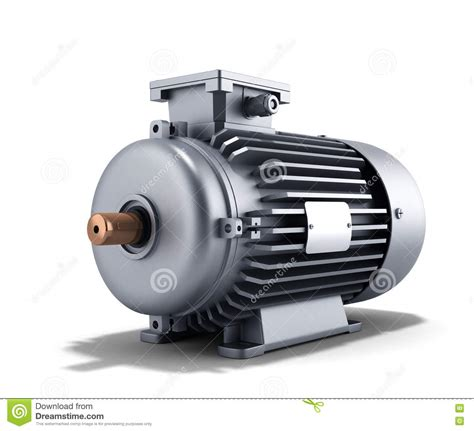 electric motor generator 3d illustration on a white