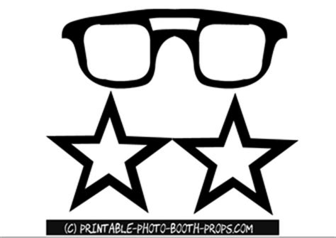 printable glasses photo booth props