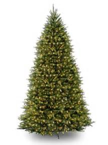 12ft pre lit dunhill fir artificial tree garden world