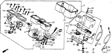 honda motorcycle 1983 oem parts diagram for instruments partzilla