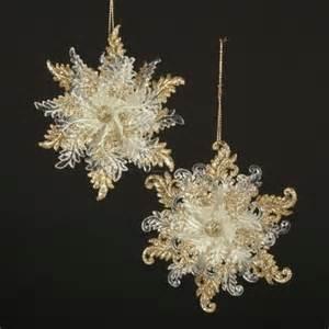 kurt adler acrylic snowflake ornament 4 75 2 king of christmas