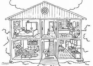 Dessin Intérieur Maison : coloriage maison int rieur img 26229 ~ Preciouscoupons.com Idées de Décoration