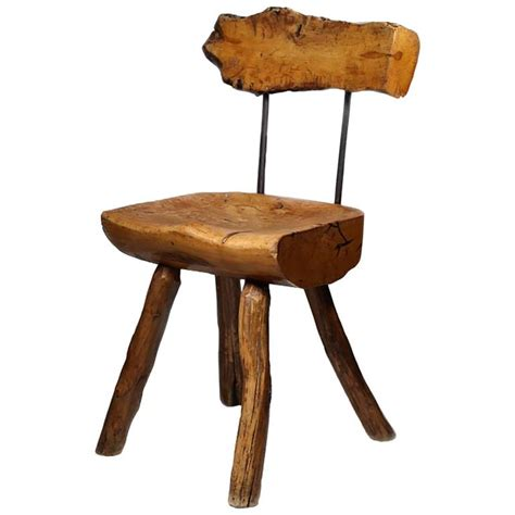 1940s primitive handmade side chair for sale at 1stdibs