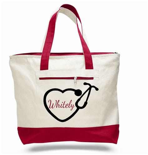 nurse bag nursing tote personalized nurse bag pinning