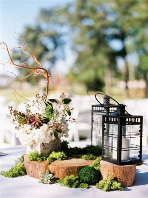 rustic lantern wedding decor ideas deer pearl flowers