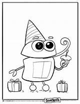 Storybots Coloring Birthday Kolorowanki Ask Sheets Activity Dzieci Dla Activities Characters Books Learning sketch template
