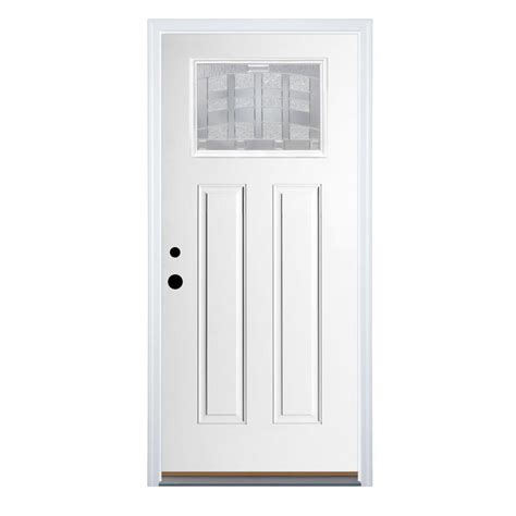 white doors lowes shop therma tru benchmark doors emerson right inswing