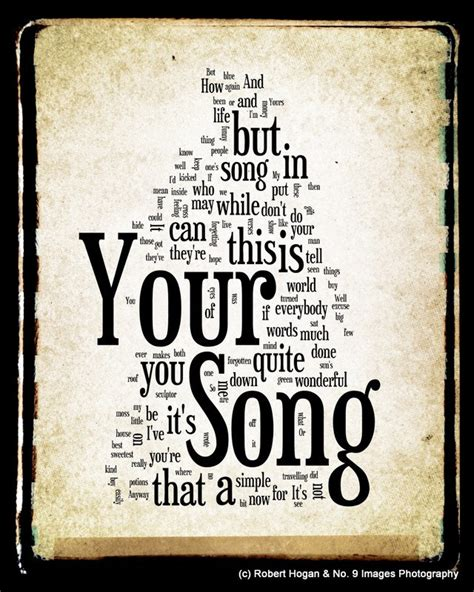 Testo The Best Of You by Your Song Lyrics Elton Word Cloud Word Print