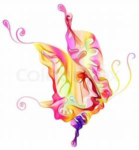 Smooth colorful abstract butterfly Stock Photo Colourbox