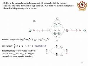 Complete This Valence Molecular Orbital Diagram For Oxygen