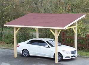Abri De Voiture En Bois : abri voiture 1 place fait en bois toiture 1 pente ~ Melissatoandfro.com Idées de Décoration