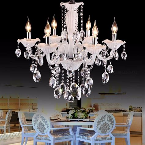 small crystal chandelier for bedroom cafe white mini chandelier luxury bedroom 6 lights 19823