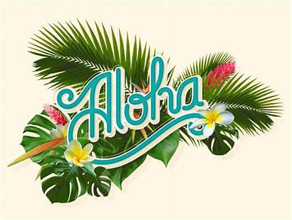 Aloha Flowers Hawaii Animated Clipart Dribbble Staff