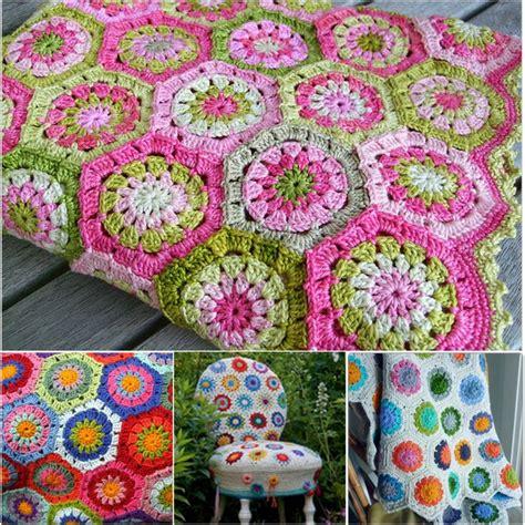 gehaakte bloemen zeshoek deken 1078 beste afbeeldingen van afghans blankets 3